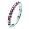 Virtue London Ring - Chenille Pink Enamel from the Rings collection at Argenteus Jewellery
