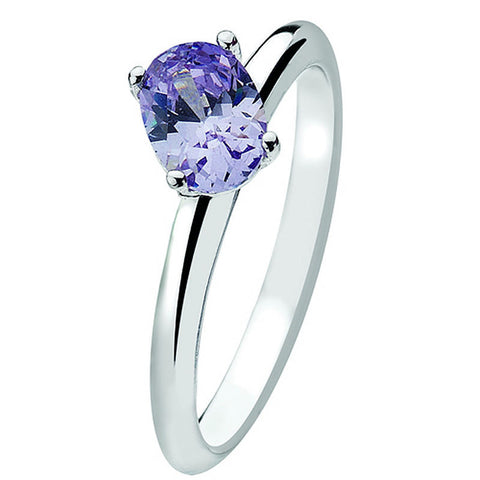 Virtue London Ring - Purple Haze Cubic Zirconia from the Rings collection at Argenteus Jewellery