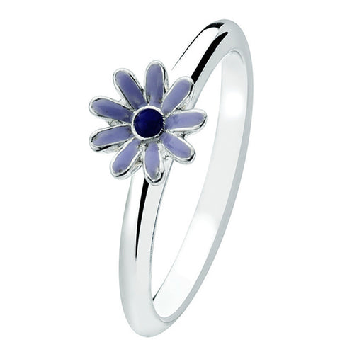 Virtue London Ring - Purple Daisy from the Rings collection at Argenteus Jewellery
