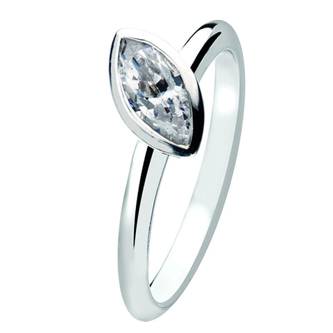 Virtue London Ring - Marquise Cubic Zirconia from the Rings collection at Argenteus Jewellery