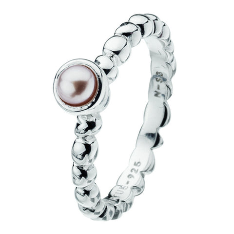 Virtue London Ring - Bella Pink Pearl from the Rings collection at Argenteus Jewellery