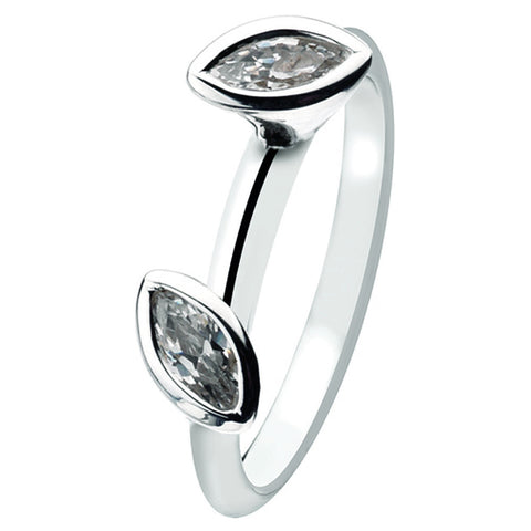 Virtue London Ring - Dawn Marquise Cubic Zirconias from the Rings collection at Argenteus Jewellery