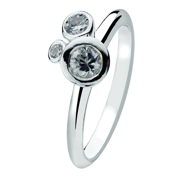 Virtue London Ring - Bubble Clear Cubic Zirconia from the Rings collection at Argenteus Jewellery