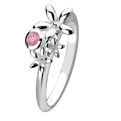 Virtue London Ring - Passion Flowers & Pink Crystal from the Rings collection at Argenteus Jewellery