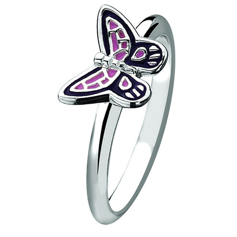 Virtue London Ring - Flutterbye Butterfly from the Rings collection at Argenteus Jewellery