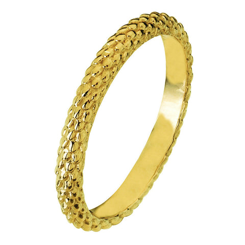 Virtue London Ring - Pine Cone Gold Plate from the Rings collection at Argenteus Jewellery