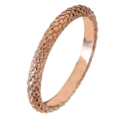 Virtue London Ring - Pine Cone Rose Gold Plate from the Rings collection at Argenteus Jewellery