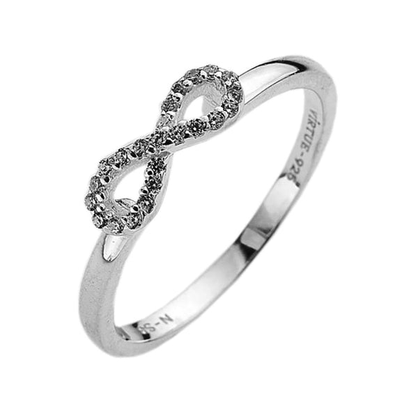 Virtue London Ring - Infinity Cubic Zirconia from the Rings collection at Argenteus Jewellery