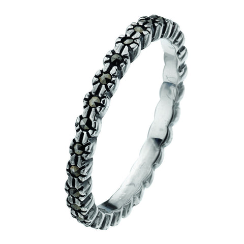 Virtue London Ring - Wreath Marcasites