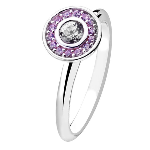 Virtue London Ring - Target Pink Crystal from the Rings collection at Argenteus Jewellery