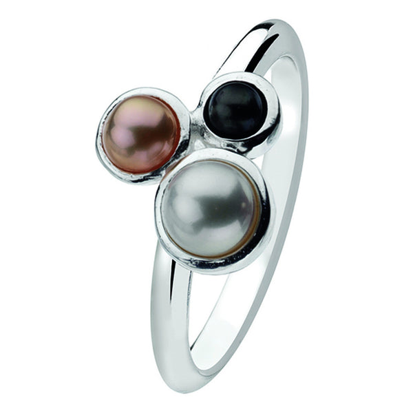 Virtue London Ring - Trio Pearls from the Rings collection at Argenteus Jewellery
