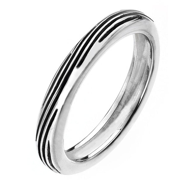 Virtue London Ring - Black Tide Enamel from the Rings collection at Argenteus Jewellery