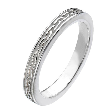 Virtue London Ring - Weave White Enamel