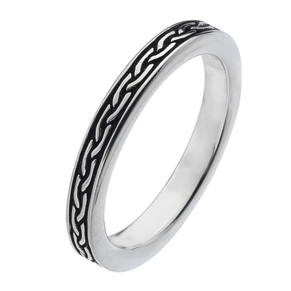 Virtue London Ring - Black Weave Enamel from the Rings collection at Argenteus Jewellery