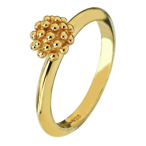 Virtue London Ring - Trachelium Flower Gold Plate from the Rings collection at Argenteus Jewellery