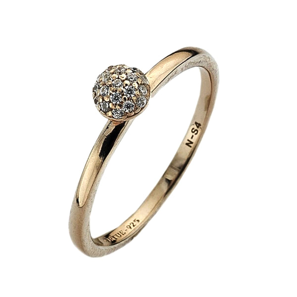 Virtue London Ring - Wishes Cubic Zirconia Rose Gold Plate from the Rings collection at Argenteus Jewellery