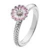 Virtue London Ring - Pink Lotus Enamel Flower from the Rings collection at Argenteus Jewellery