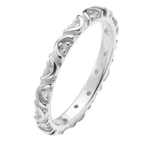 Virtue London Ring - Boomerang Cubic Zircona from the Rings collection at Argenteus Jewellery