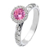 Virtue London Ring - Gaze Pink Cubic Zirconia from the Rings collection at Argenteus Jewellery