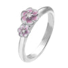 Virtue London Ring - Cluster Flowers Pink Enamel from the Rings collection at Argenteus Jewellery