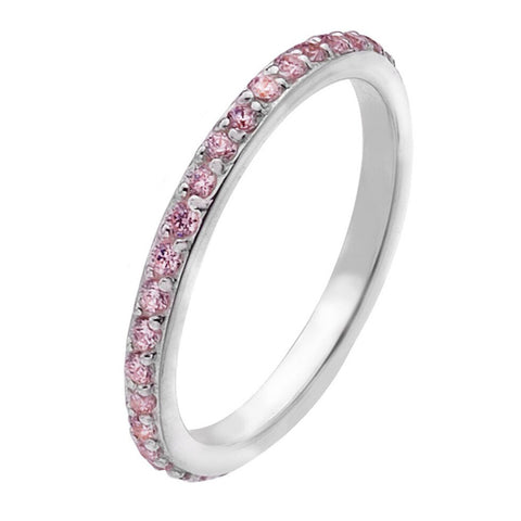 Virtue London Ring - Eternity Pink Crystal from the Rings collection at Argenteus Jewellery