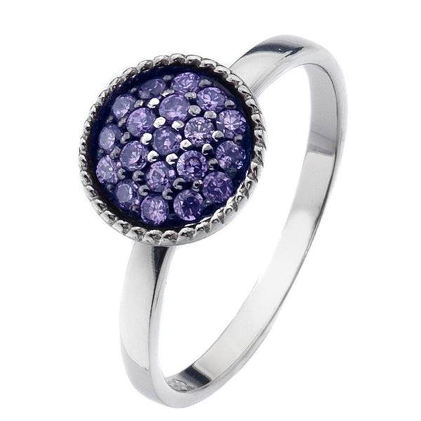 Virtue London Ring - Trove Lilac Purple Cubic Zirconia from the Rings collection at Argenteus Jewellery