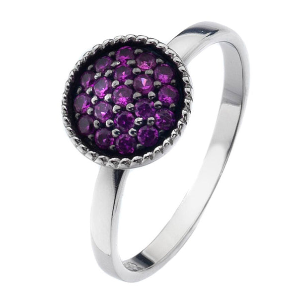 Virtue London Ring - Trove Purple Cubic Zirconia from the Rings collection at Argenteus Jewellery
