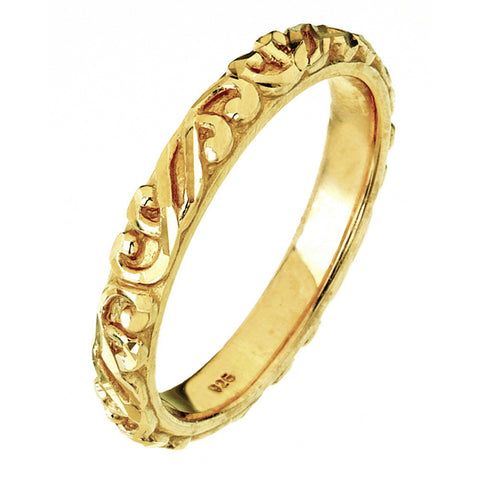 Virtue London Ring - Link Yellow Gold Plate from the Rings collection at Argenteus Jewellery