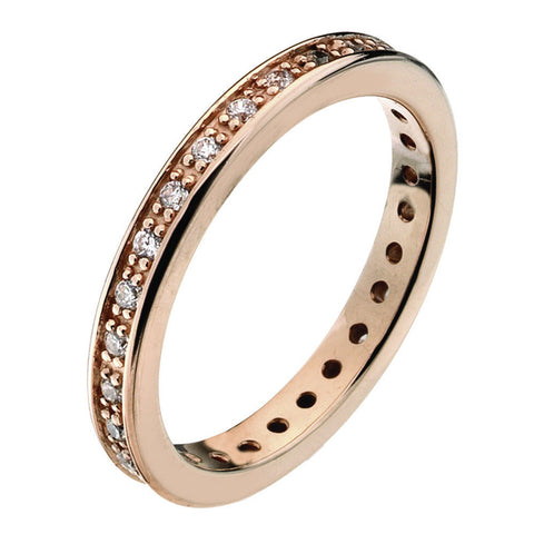 Virtue London Ring - Forever Rose Gold Plate from the Rings collection at Argenteus Jewellery