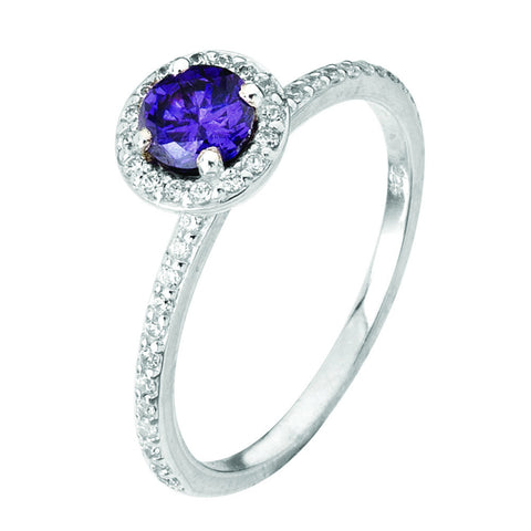 Virtue London Ring - Minds Eye Purple Cubic Zirconia from the Rings collection at Argenteus Jewellery