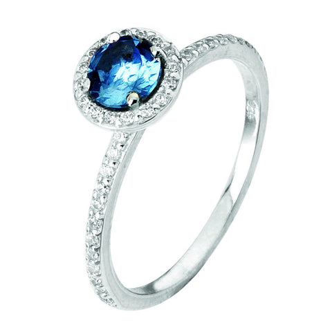 Virtue London Ring - Minds Eye Blue Cubic Zirconia