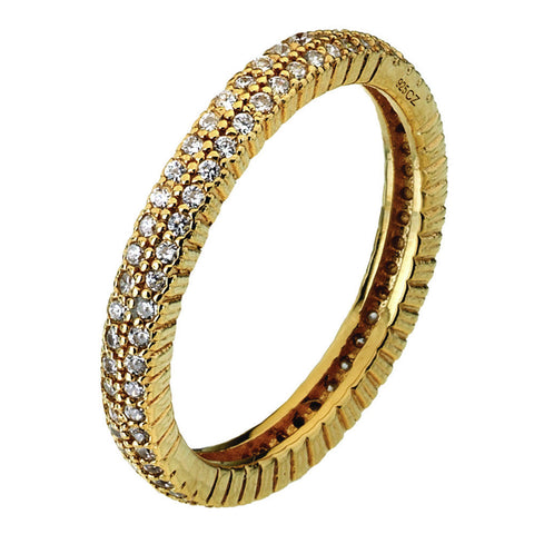 Virtue London Ring - Solar Two Gold Plate from the Rings collection at Argenteus Jewellery