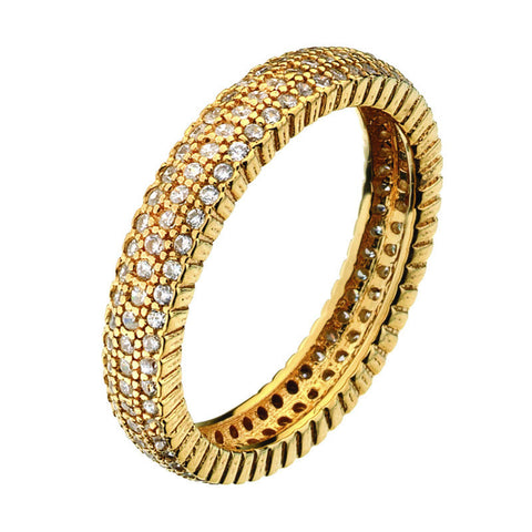 Virtue London Ring - Solar Three Gold Plate from the Rings collection at Argenteus Jewellery