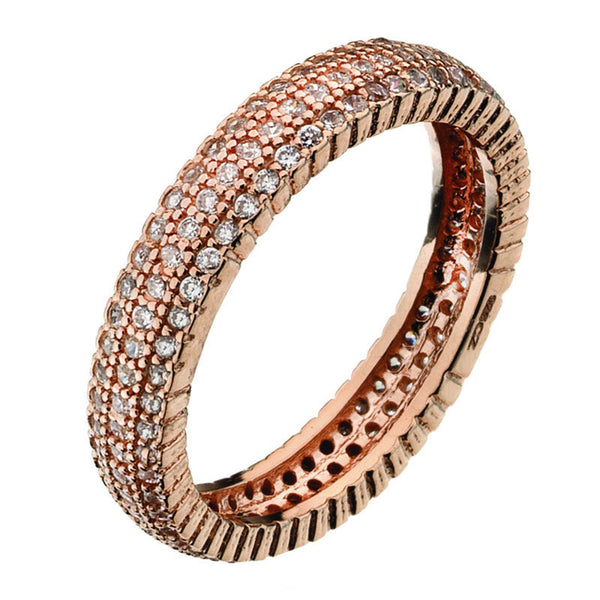 Virtue London Ring - Solar Three Rose Gold Plate from the Rings collection at Argenteus Jewellery