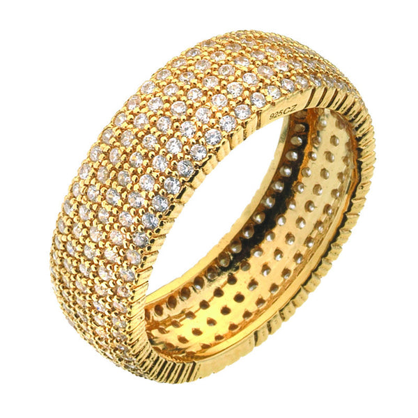Virtue London Ring - Solar Five Gold Plate from the Rings collection at Argenteus Jewellery