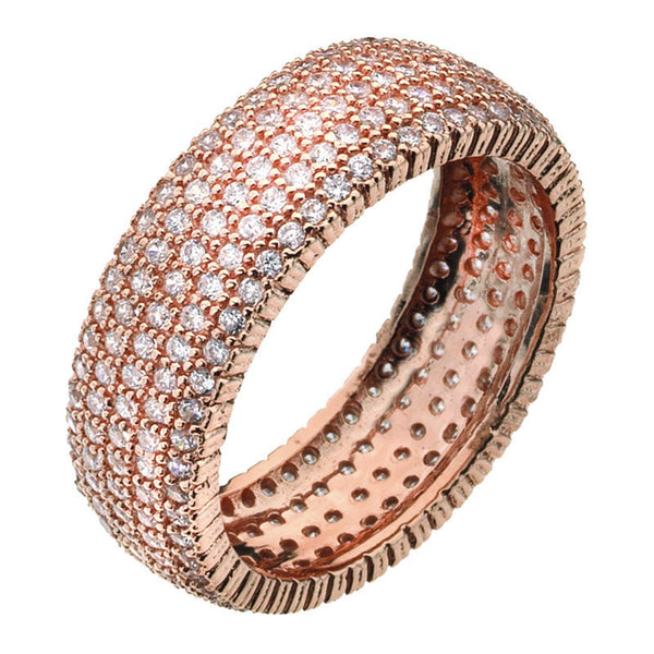 Virtue London Ring - Solar Five Rose Gold Plate from the Rings collection at Argenteus Jewellery