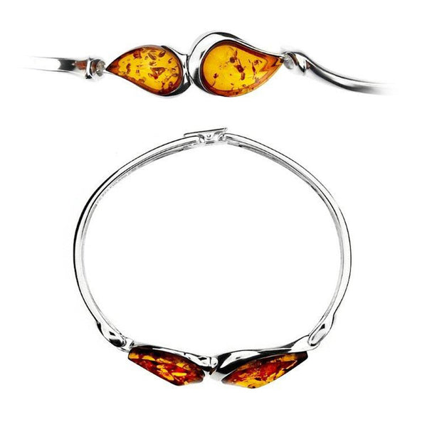 Amber Teardrops Bangle from the Bangles collection at Argenteus Jewellery