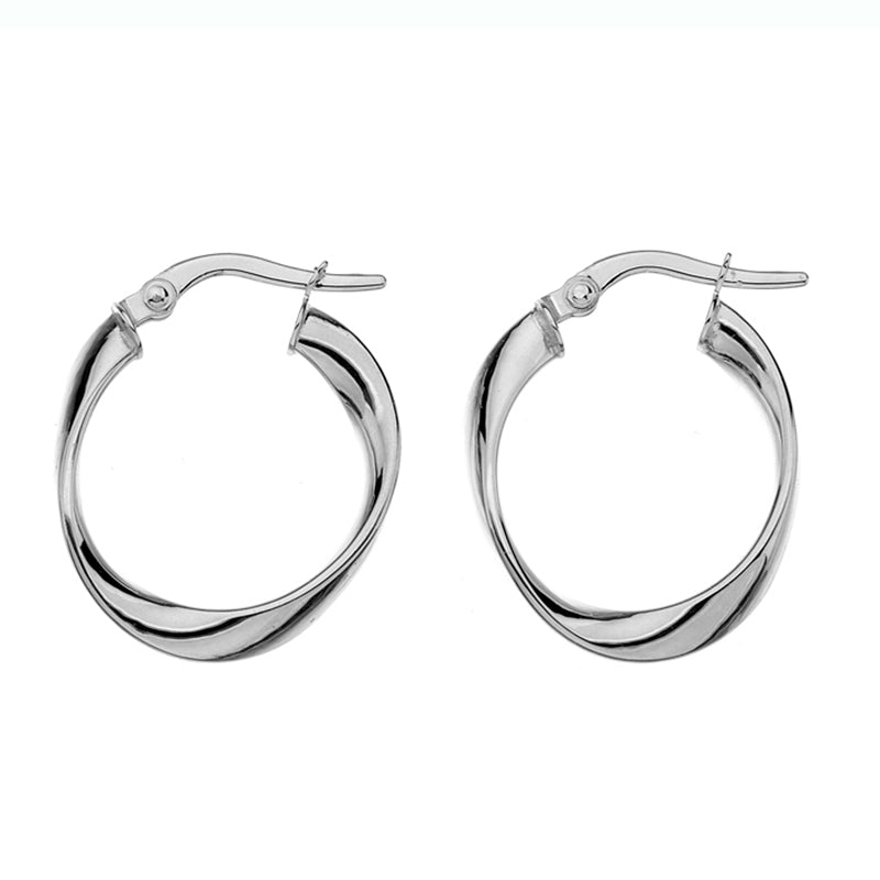 4259cf543 Gold Twist Hoop Earrings - 20mm from the Earrings collection at Argenteus  Jewellery