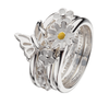 Virtue London Ring - Apple Blossom White Enamel from the Rings collection at Argenteus Jewellery