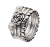 Virtue London Ring - Double Bloom Pearl from the Rings collection at Argenteus Jewellery