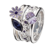 Virtue London Ring - Posey Purple Crystal from the Rings collection at Argenteus Jewellery