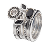 Virtue London Ring - Geranium Black Enamel from the Rings collection at Argenteus Jewellery