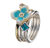 Virtue London Ring - Blue Nile Crystal from the Rings collection at Argenteus Jewellery