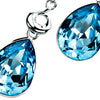 Blue Swarovski Teardrop Necklet from the Necklaces collection at Argenteus Jewellery