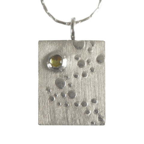 Hazel Davison - Bubbles With Peridot Necklace from the Necklaces collection at Argenteus Jewellery