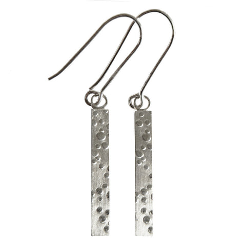 Hazel Davison - Bubbles Long Drop Earrings from the Earrings collection at Argenteus Jewellery