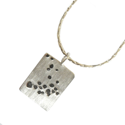Hazel Davison - Bubbles Rectangle Drop Necklace