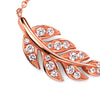 Rose Gold Plate Leaf Drop Necklace from the Necklaces collection at Argenteus Jewellery