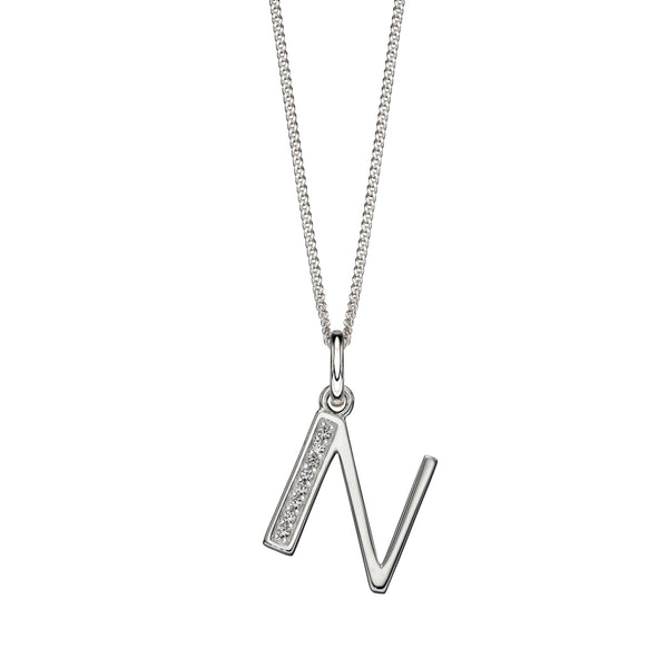 Alphabet Necklace - N from the Necklaces collection at Argenteus Jewellery