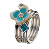 Virtue London Ring - Minds Eye Blue Cubic Zirconia from the Rings collection at Argenteus Jewellery